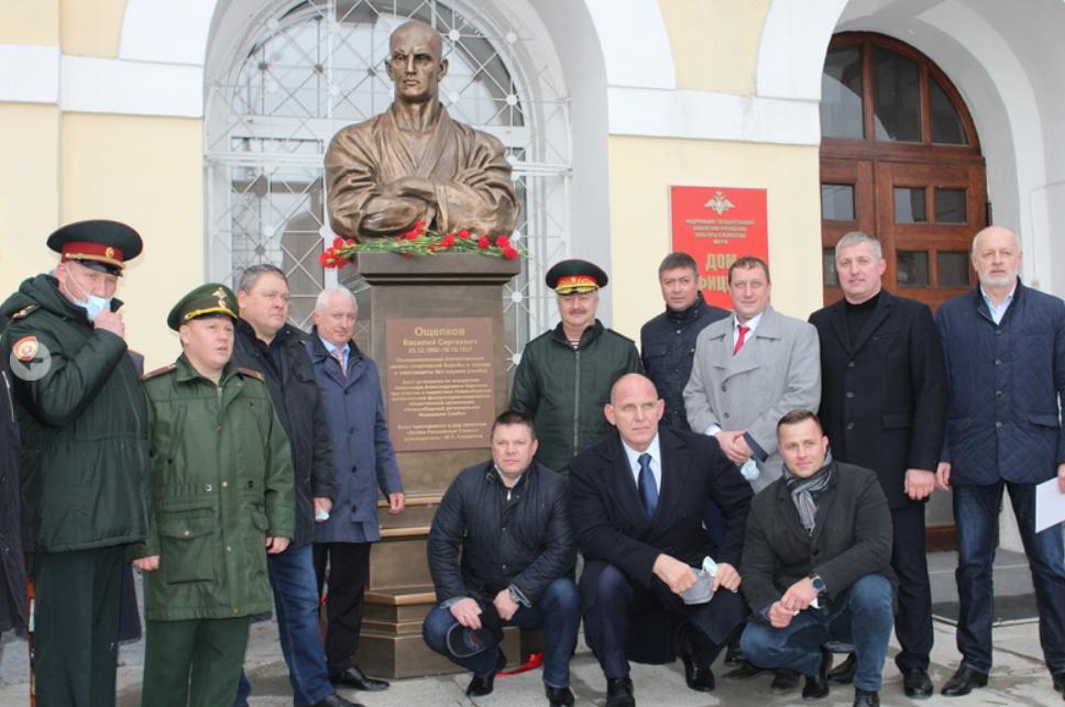 A bust of sambo founder Vasily Oshchepkov was recently unveiled in Novosibirsk to mark World Sambo Day ©RSF