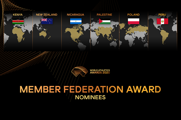 World Athletics announces six nominees for Member Federation Award