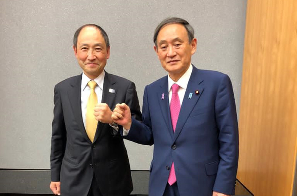 WKF general secretary meets Japanese Prime Minister Suga to discuss karate's future