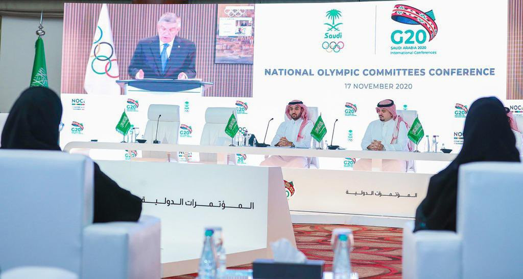 IOC President Thomas Bach attended the event virtually too ©SAOC