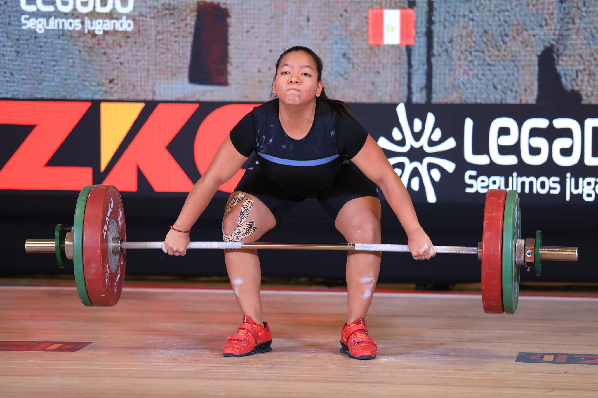 Estrella Saldarriaga took Peru to the top of the medals table ©Peru Weightlifting