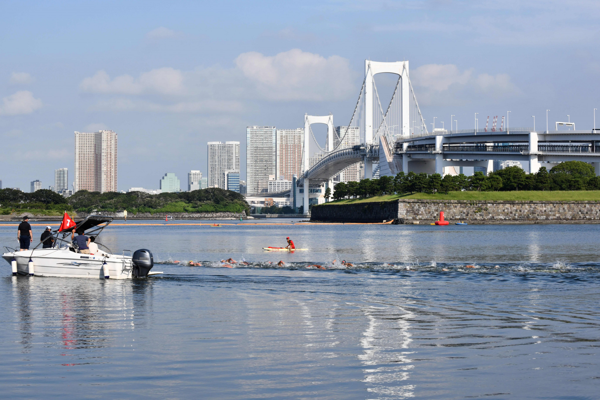 Tokyo 2020 amends start time for open water swimming as heat countermeasure