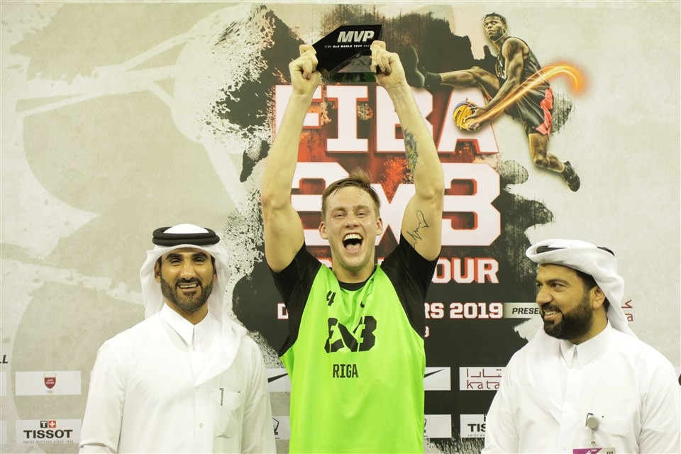 Riga star Lasmanis eyes back-to-back Doha Masters titles as FIBA 3x3 World Tour resumes
