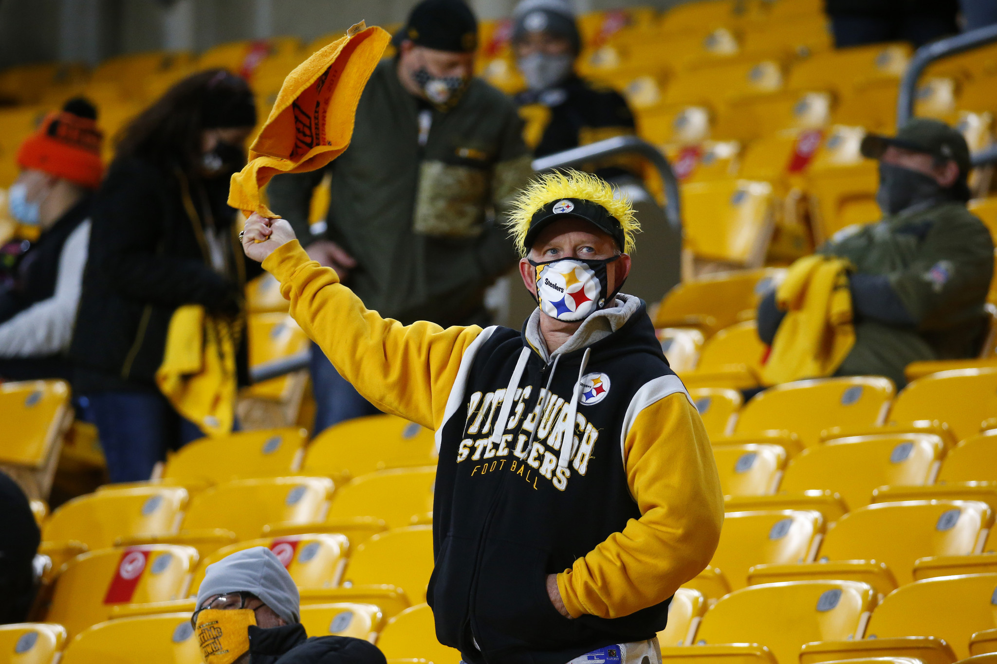 Pittsburgh Steelers' fans were allowed to attend their National Football League match against their main rivals Cincinnati Bengals earlier this month ©Getty Images
