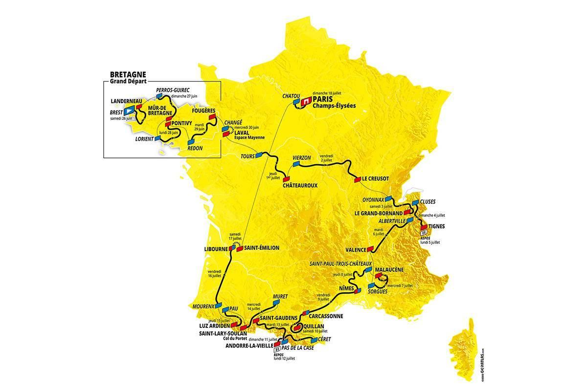 The 2021 Tour de France route has been revealed ©Tour de France