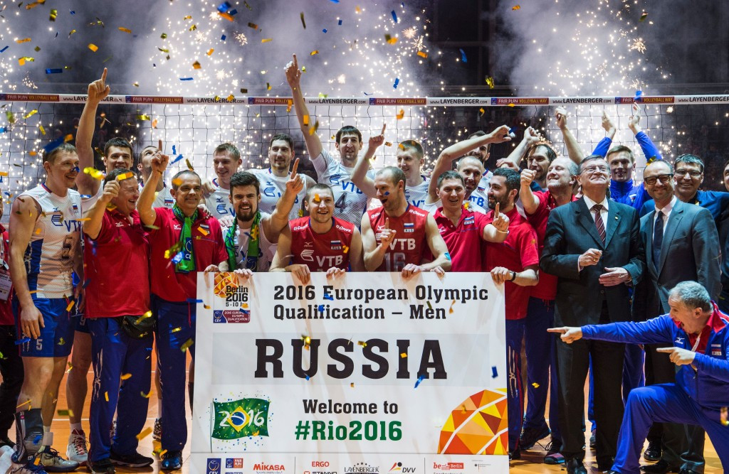Russia earn right to defend men's Olympic volleyball title at Rio 2016