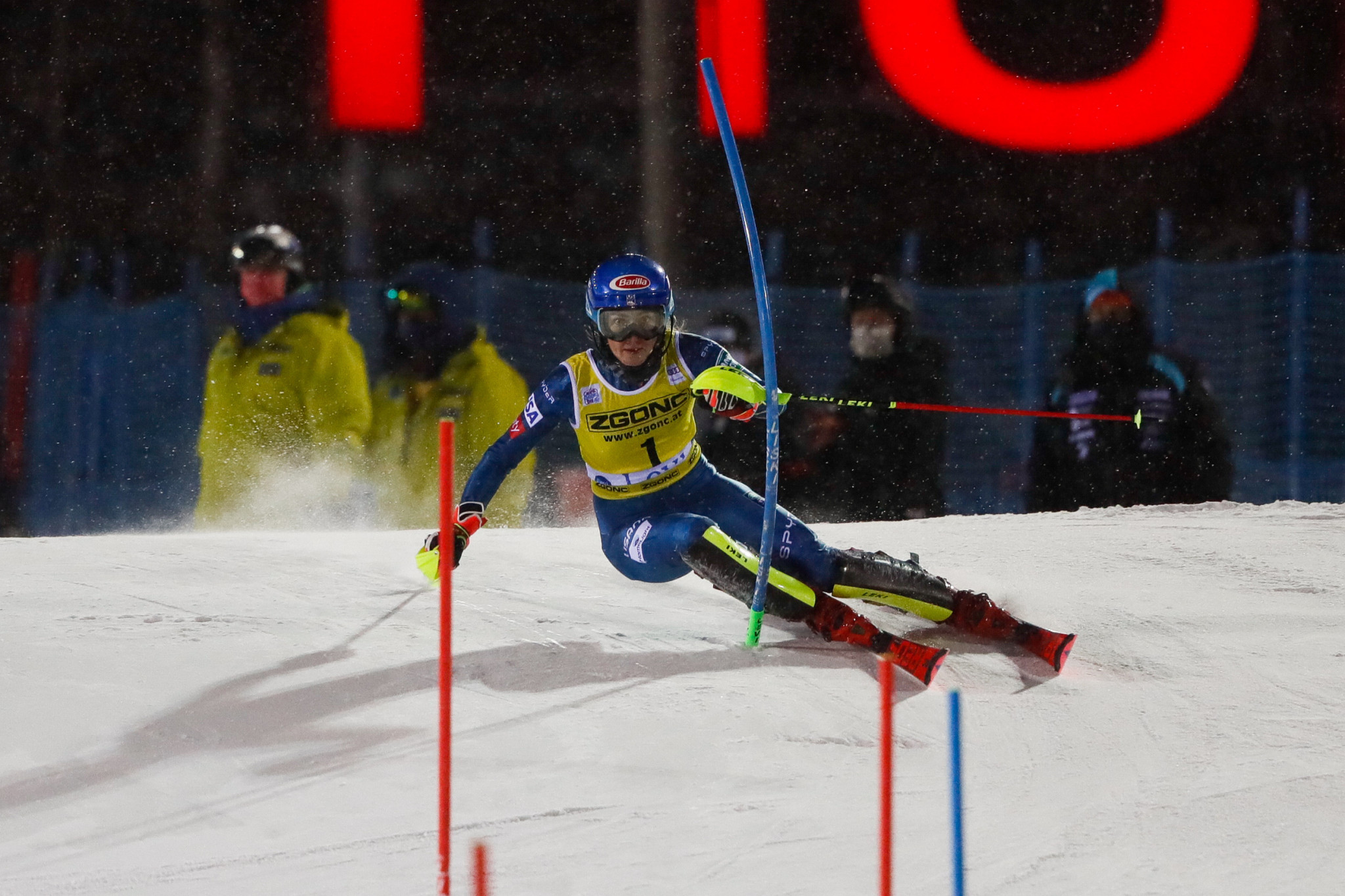 Mikaela Shiffrin had a solid comeback, finishing second in the women's slalom ©Getty Images