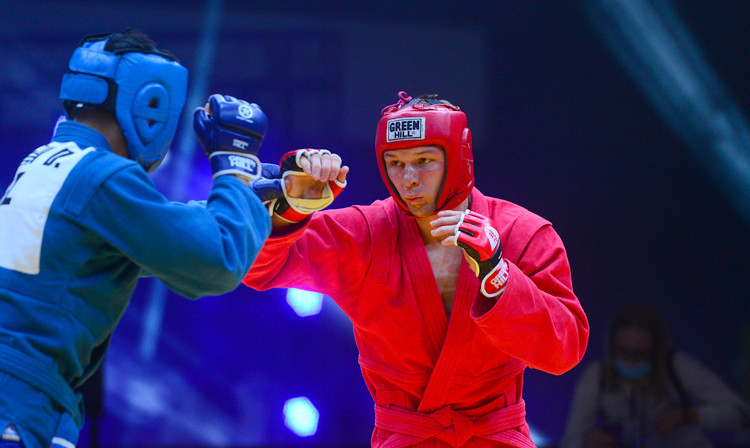 Vladislav Rudniev has hared the title of Ukraine's best sambo athlete of the year ©FIAS