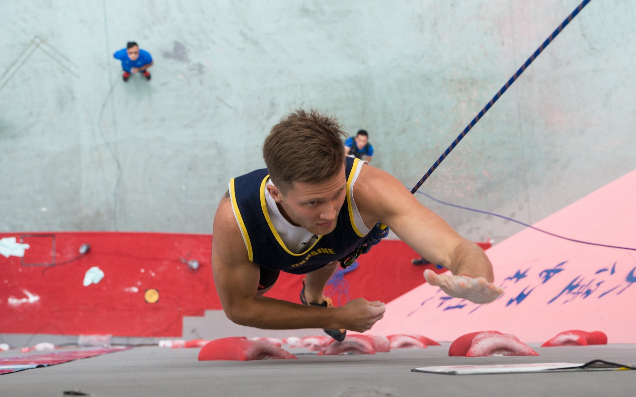 Barashchuk and Boldyrev earn speed titles at IFSC European Championships