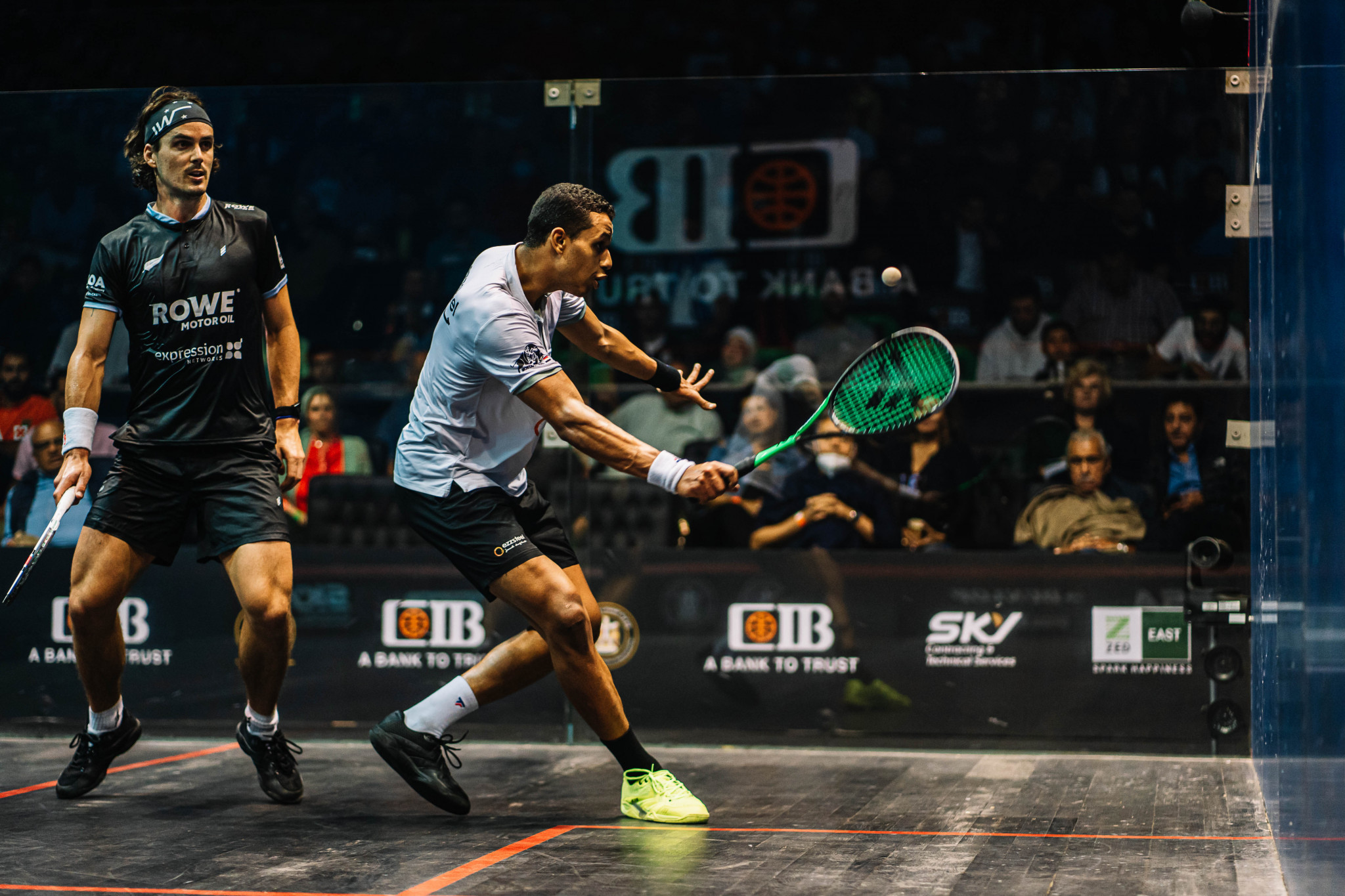 Paul Coll and Mostafa Asal could meet again at the Black Ball Squash Open after their battle at the Egyptian Open last month ©PSA