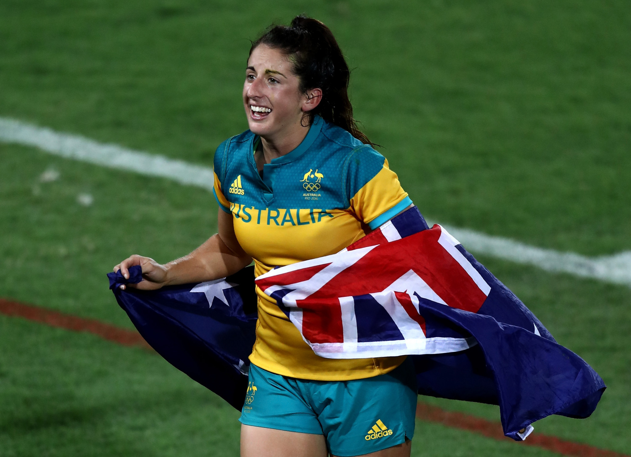 Emilee Cherry was part of the Australian gold medal winning side in the women's rugby sevens contest at Rio 2016 ©Getty Images