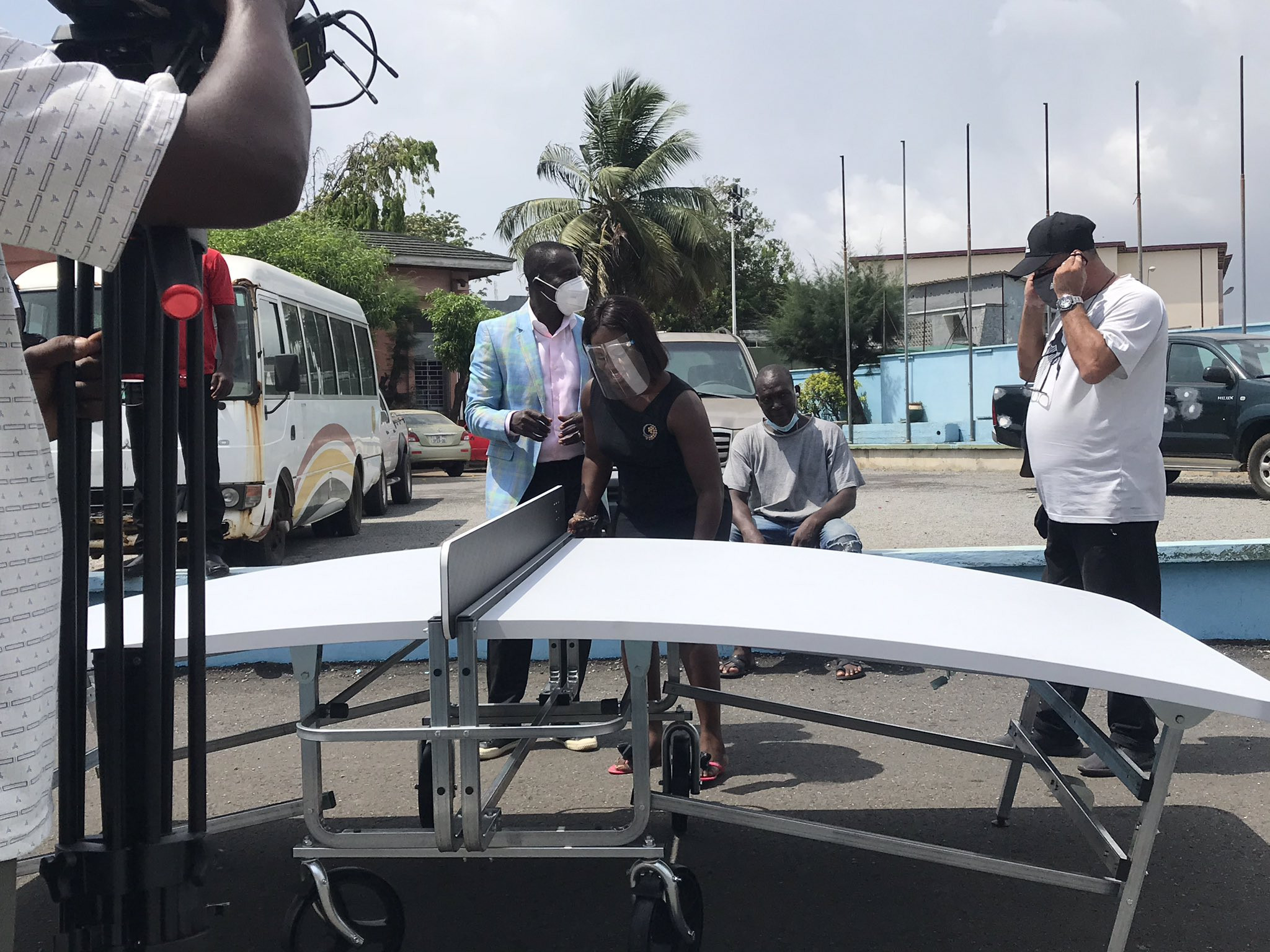 Teqball Federation of Ghana receives more than 50 tables from FITEQ