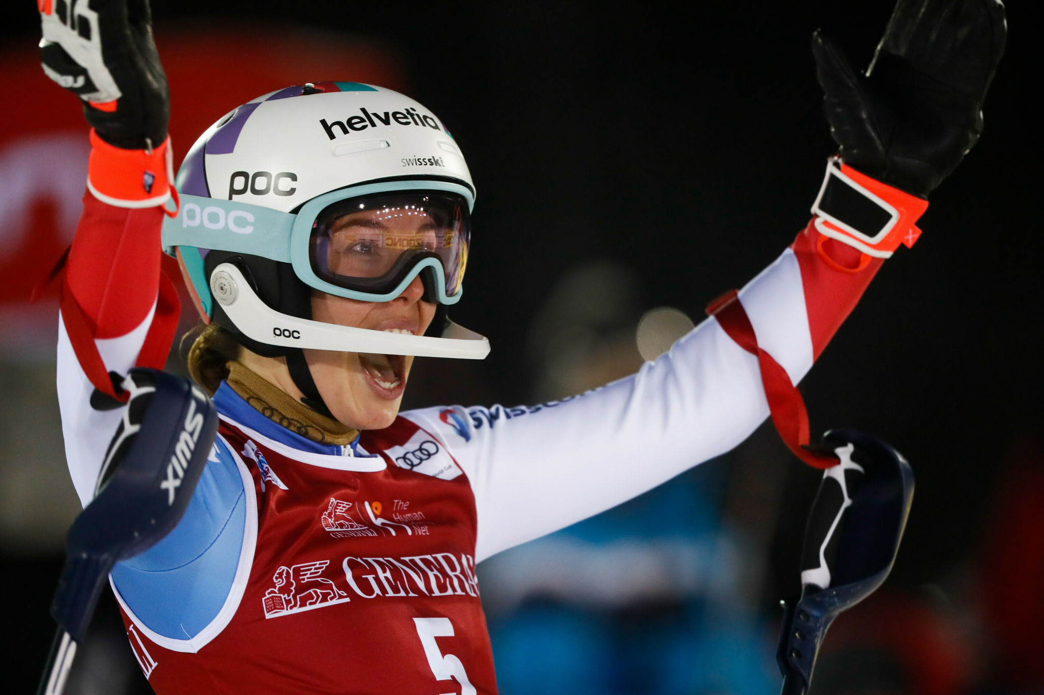 Michelle Gisin matched her best-ever slalom performance in the FIS Alpine Ski World Cup ©Getty Images