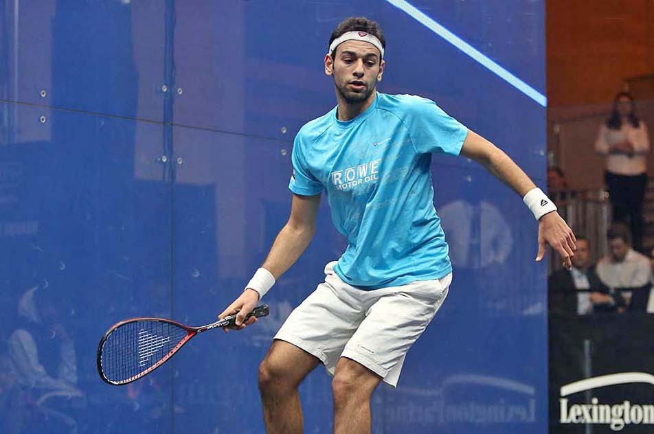 Egypt's efending champion and world number one Mohamed Elshorbagy comfortably progressed to round two by beating England's Adrian Waller in the opening round of the Tournament of Champions in New York City ©PSA