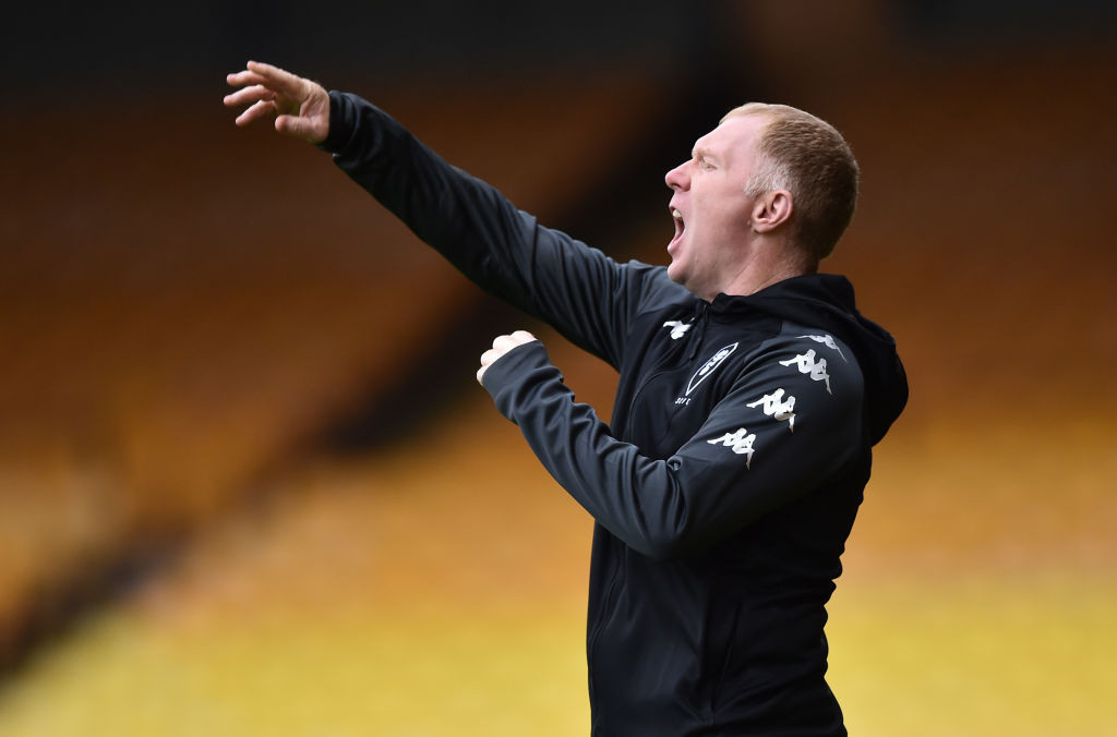 Former Manchester United and England player Paul Scholes, one of the Class of '92 who have invested in Salford City, is currently their interim manager as they play in League Two ©Getty Images