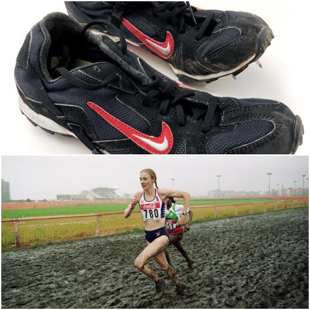 Paula Radcliffe has donated the spikes she was wearing the day she won the 2001 World Cross Country Championships in Ostend ©World Athletics and Getty Images