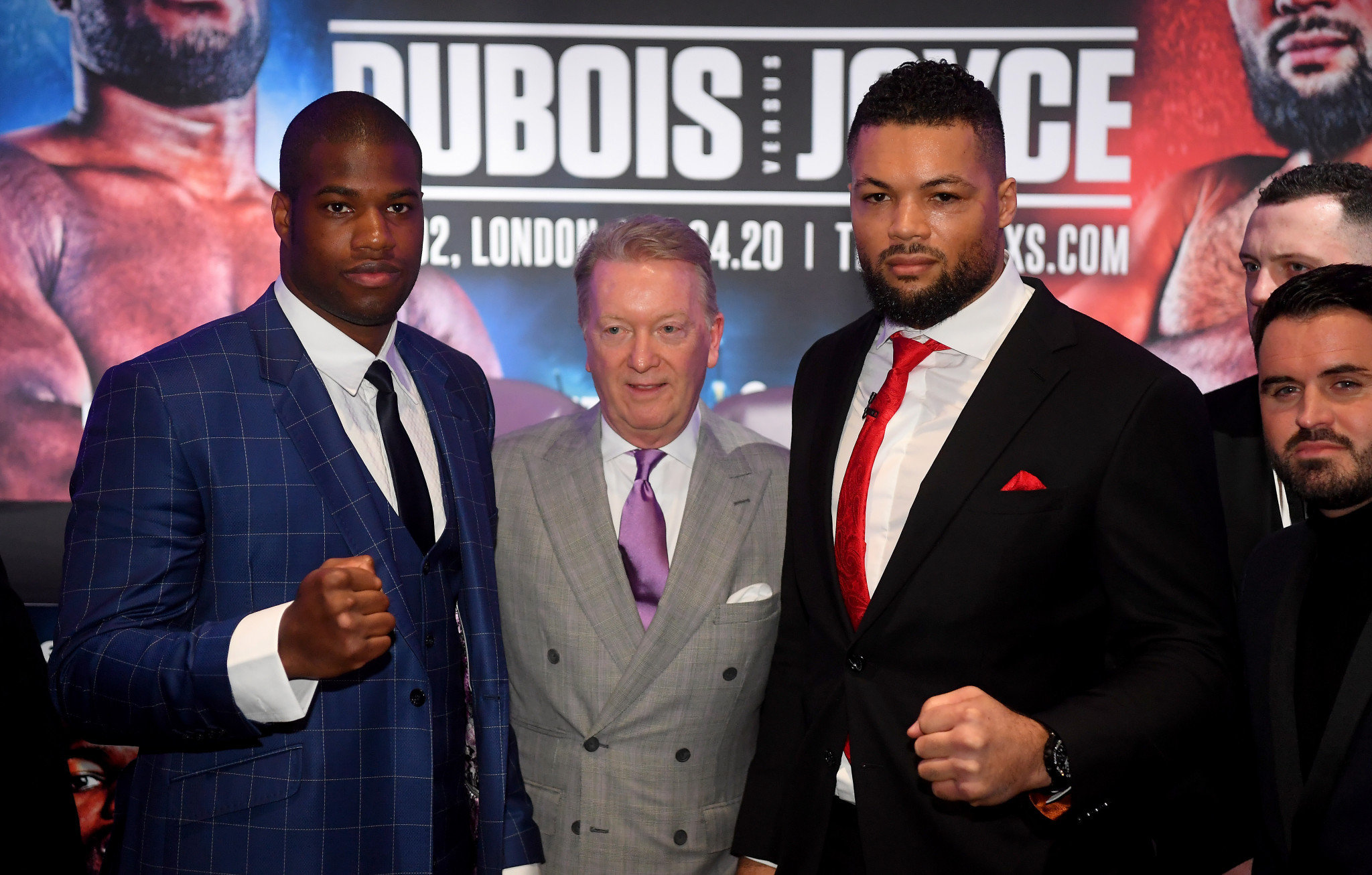 Daniel Dubois, left, and Joe Joyce have had to wait many months to finally fight because of coronavirus-related postponements ©Getty Images