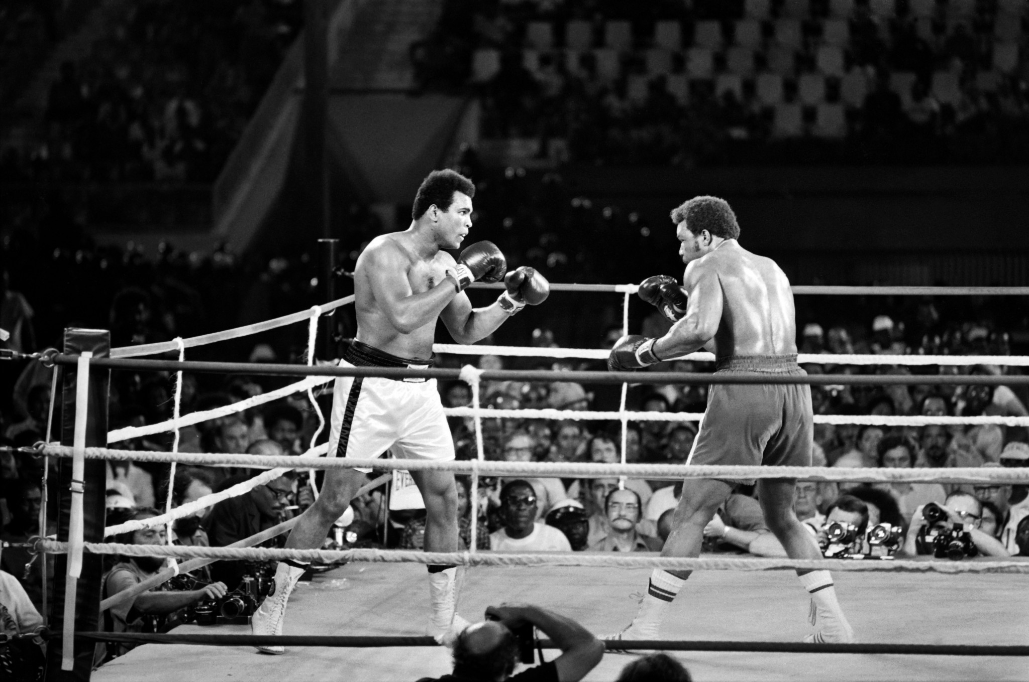 Muhammad Ali defeated George Foreman in the famed Rumble in the Jungle in Kinshasa ©Getty Images