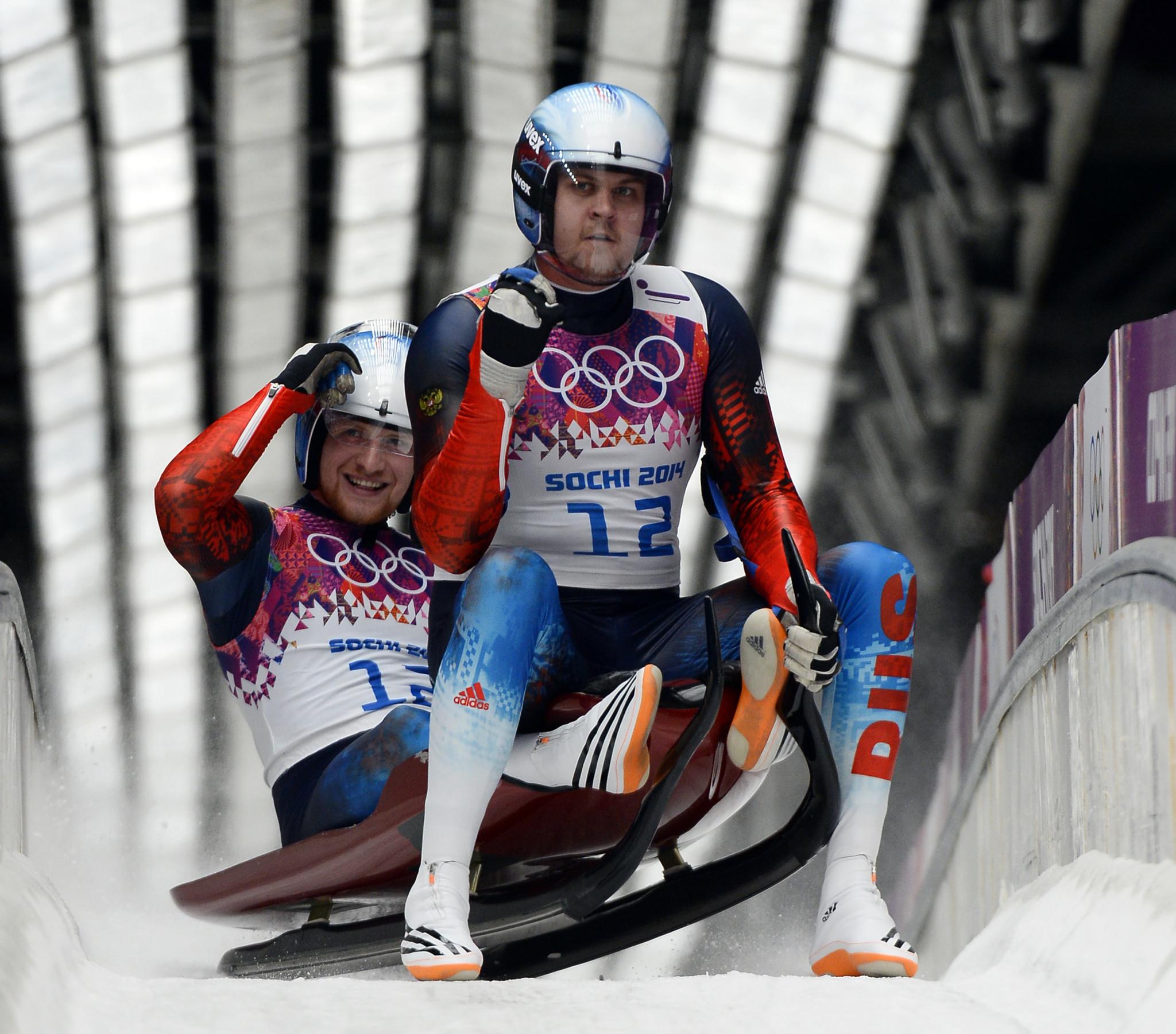 Vladislav Antonov and Alexander Denisiev were team relay silver medallists at Sochi 2014 ©Getty Images