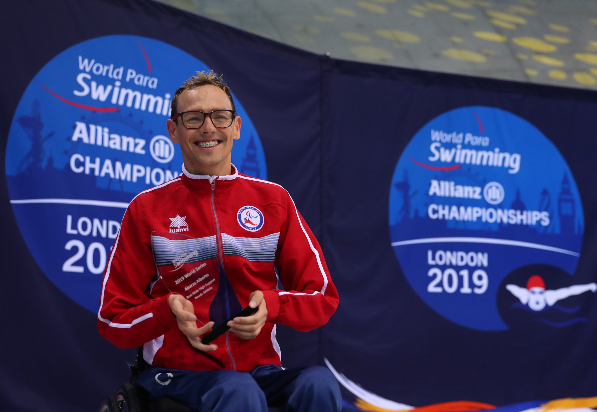 Chilean Para-swimmer Alberto Abarza revealed he was excited to compete in front of a home crowd at Santiago 2023 ©Getty Images