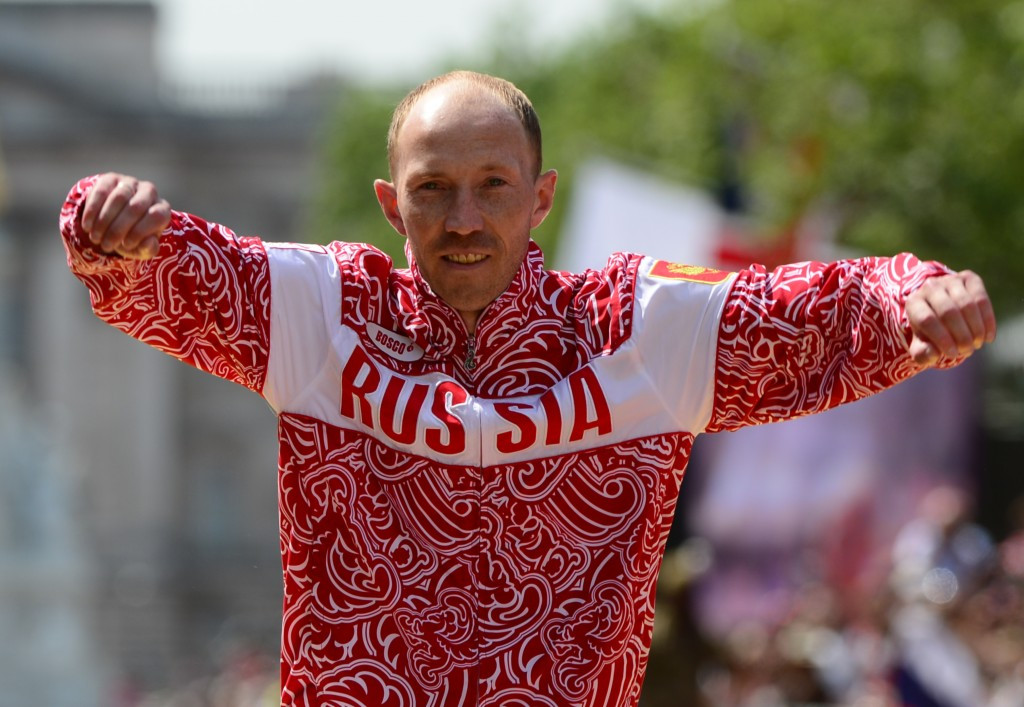Russia's Sergey Kirdyapkin won the Olympic gold medal in the 50km walk at London 2012, but his suspension was not delayed by corrupt payments, according to the IAAF ©Getty Images