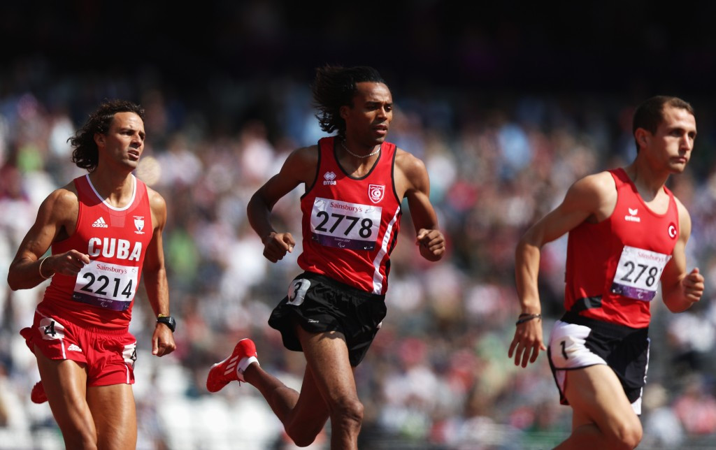 Semih Deniz, who won the men's T11 1500m, competed for Turkey at the London 2012 Paralympics
