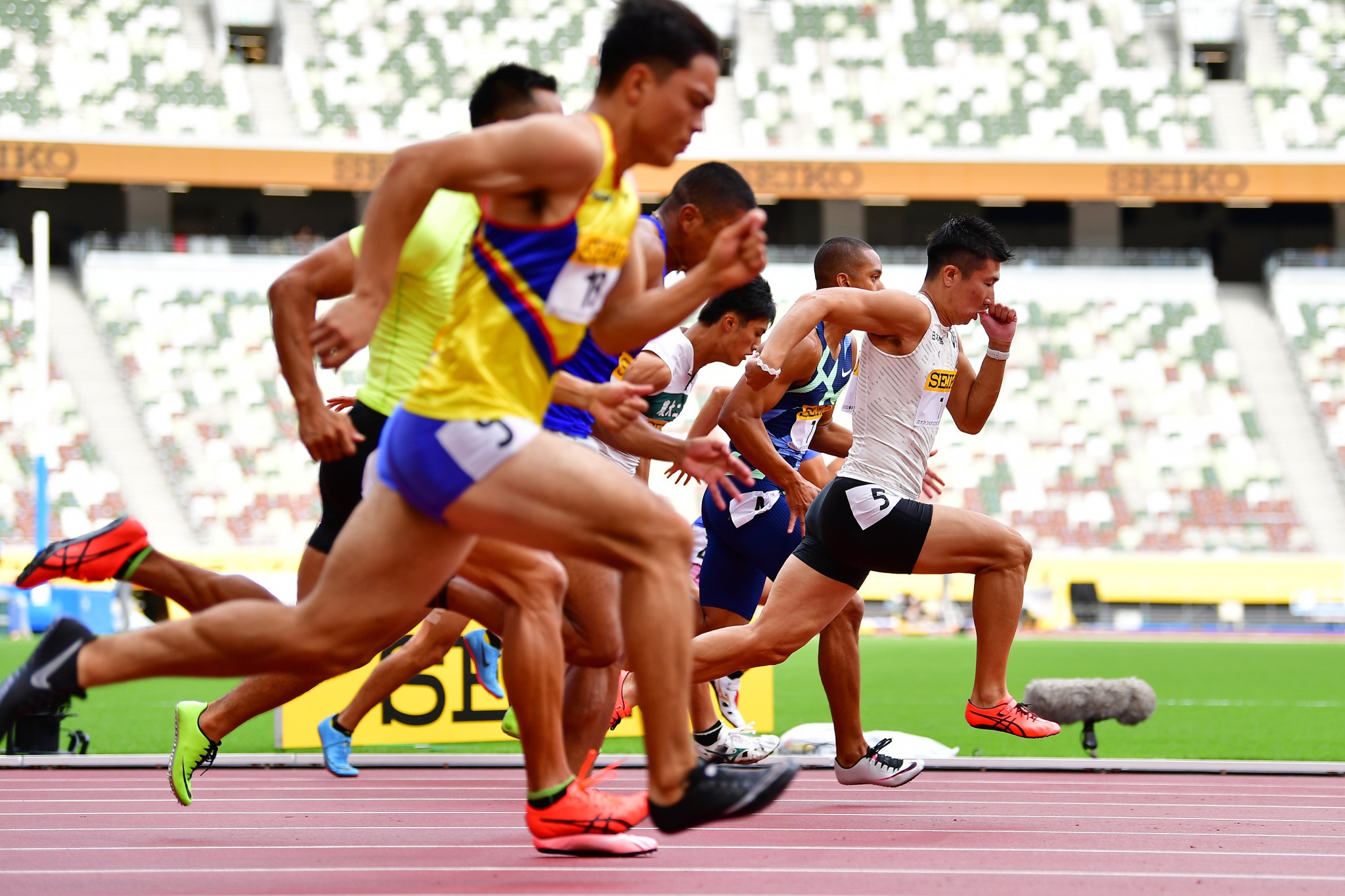 Japan's Kiryu Yoshihide won the 100m at last year's World Athletics Continental Tour Gold meeting in Tokyo last August ©Getty Images
