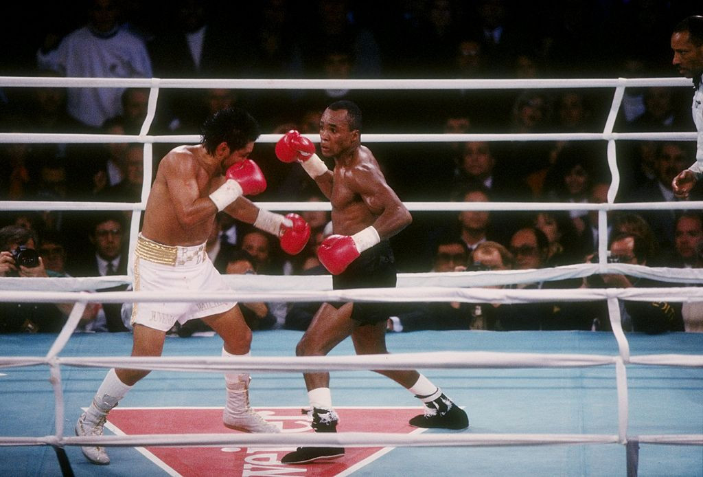 Sugar Ray Leonard and Roberto Durán enjoyed fierce encounters during their rivalry ©Getty Images
