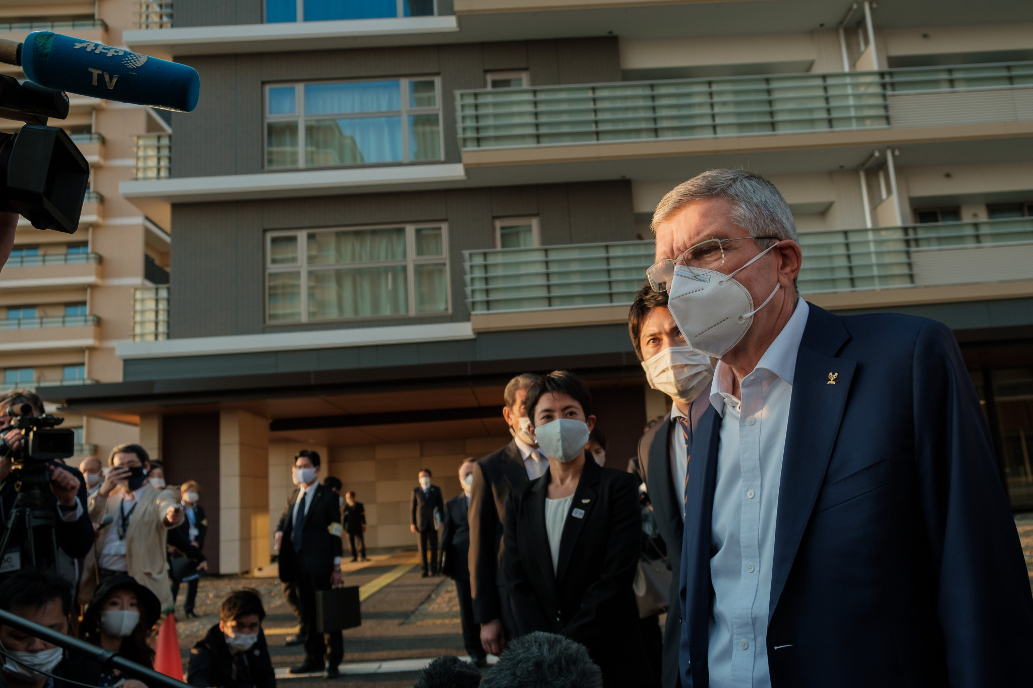 During his recent visit to Tokyo, IOC President Thomas Bach visited the Athletes' Village, where competitors will be encouraged to limit their stay during next year's Games ©Getty Images