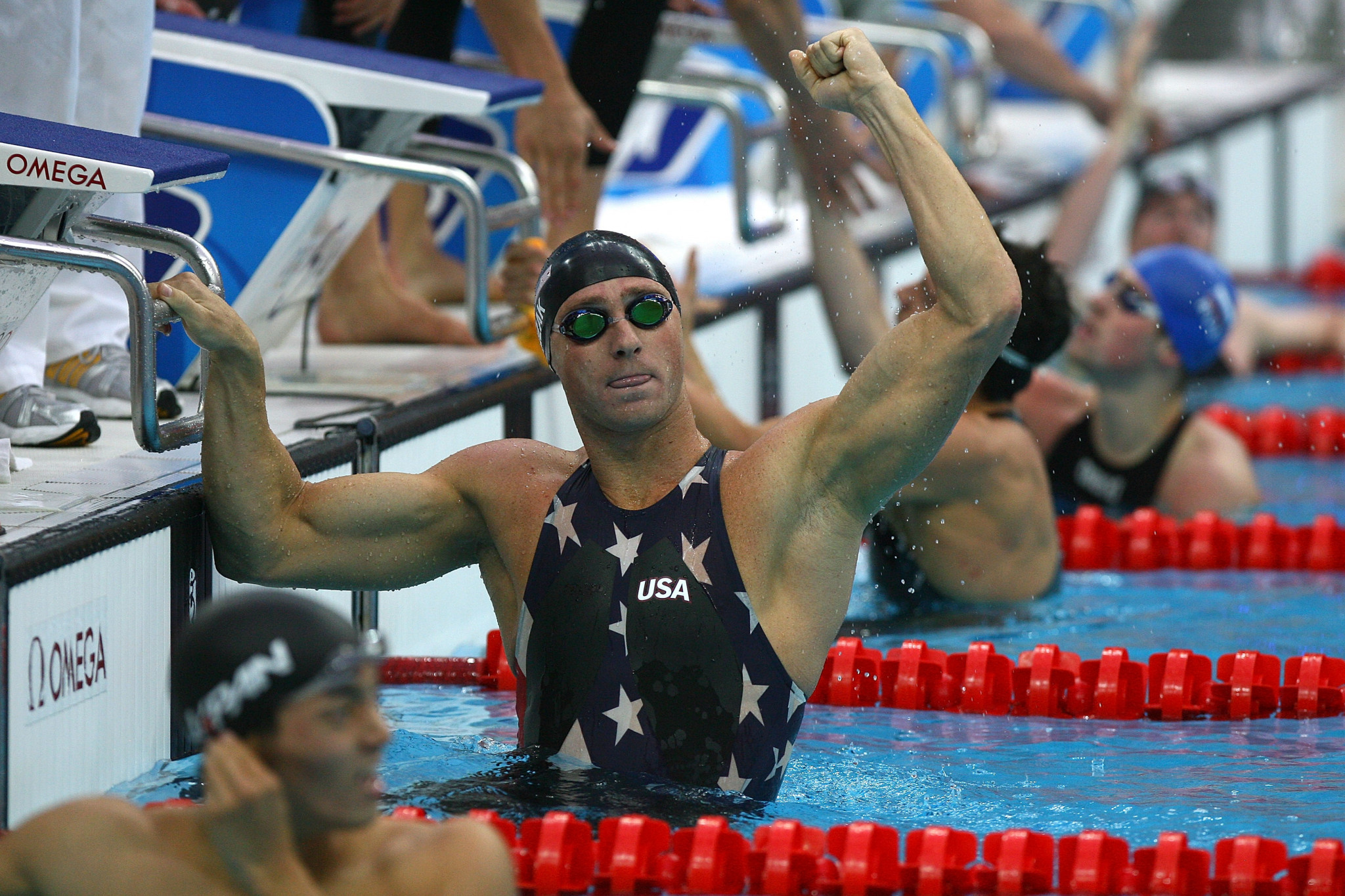 The Speedo LZR Racer suit was worn at Beijing 2008 before being banned ©Getty Images