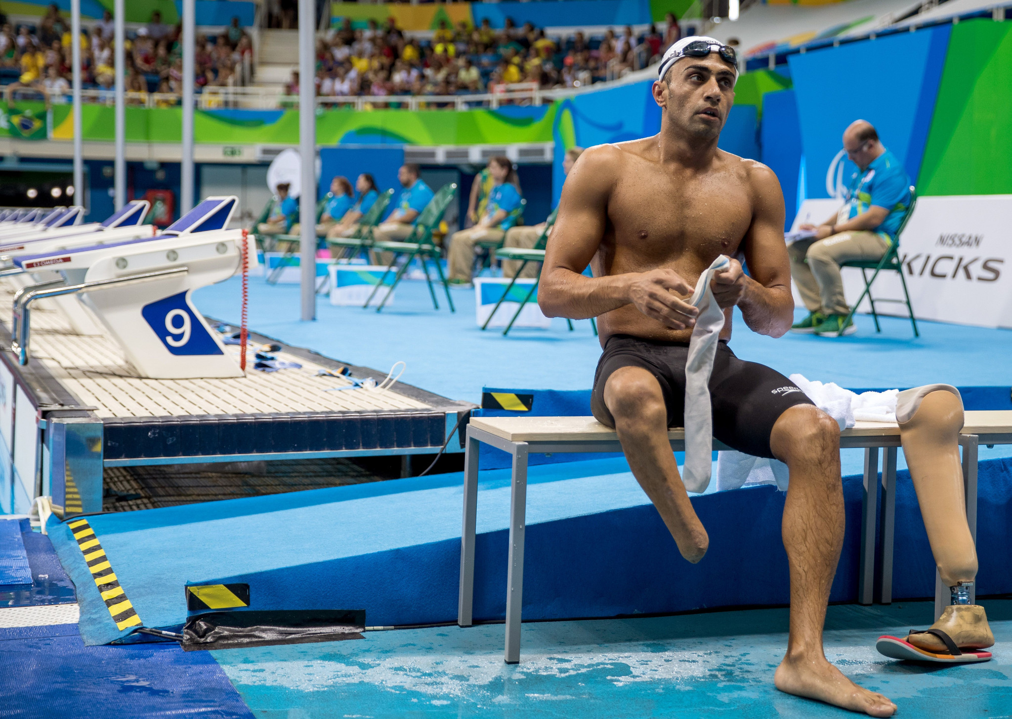 Ibrahim Al Hussein was one of two refugees who competed under the Independent Paralympic Athletes Team flag at Rio 2016 ©Getty Images