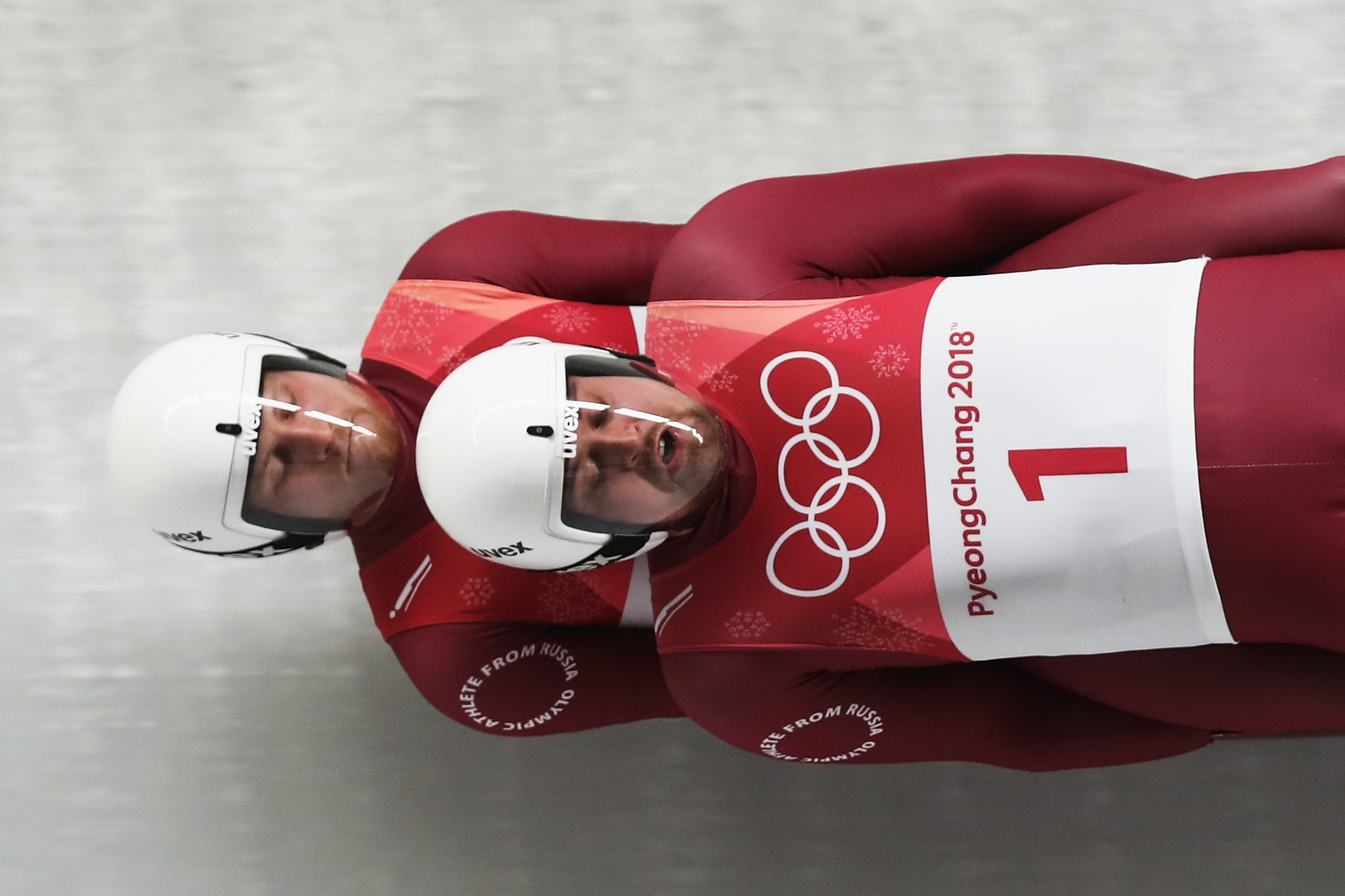 Vladislav Antonov, left, and Alexander Denisiev pulled out of the opening leg of the Luge World Cup after the former contracted coronavirus ©Getty Images
