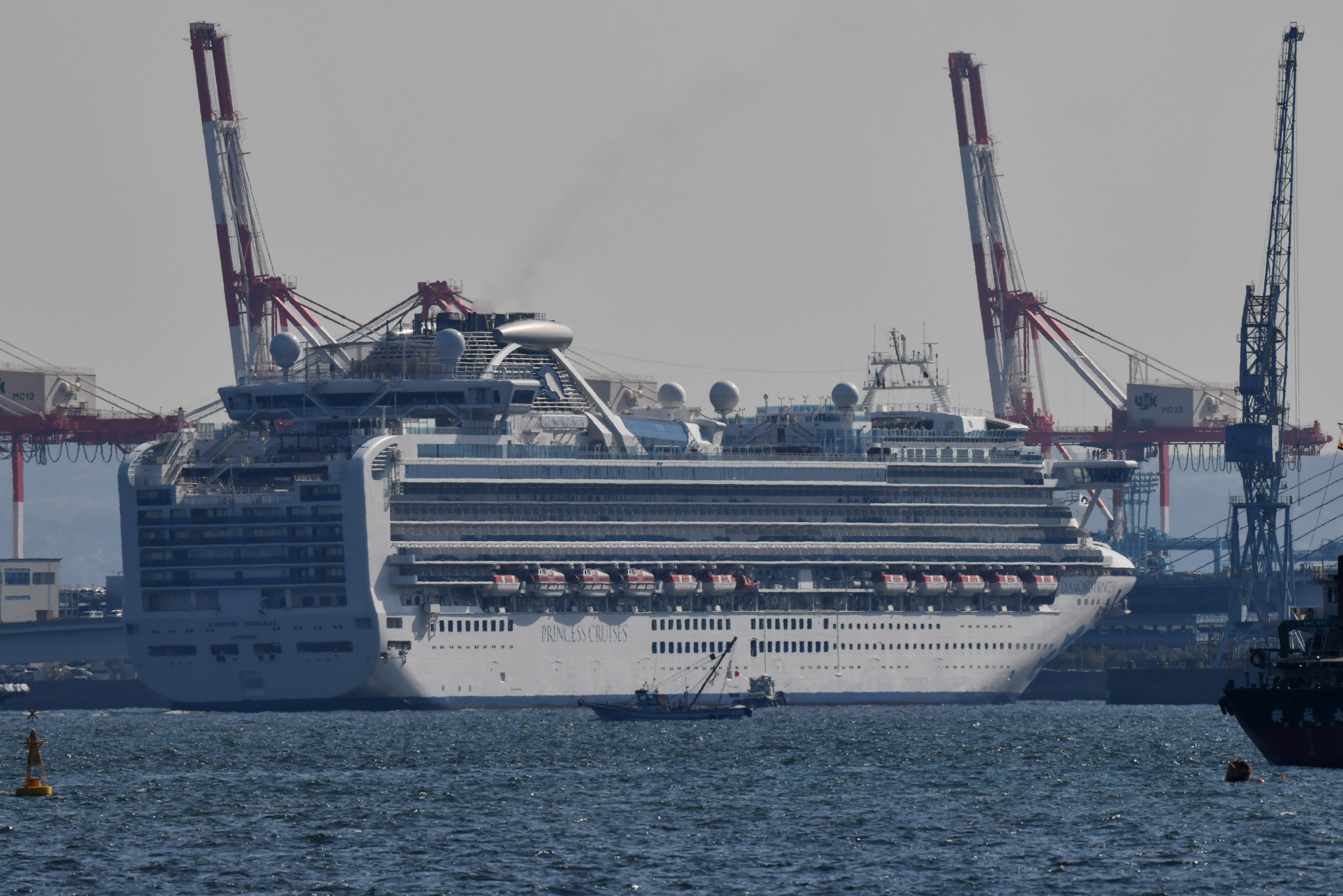 The Diamond Princess cruise ship situation reportedly raised concerns over the cost of treating international visitors ©Getty Images