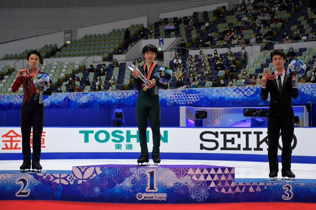 Kagiyama strikes gold on debut as Sakamoto wins first Grand Prix title in Osaka