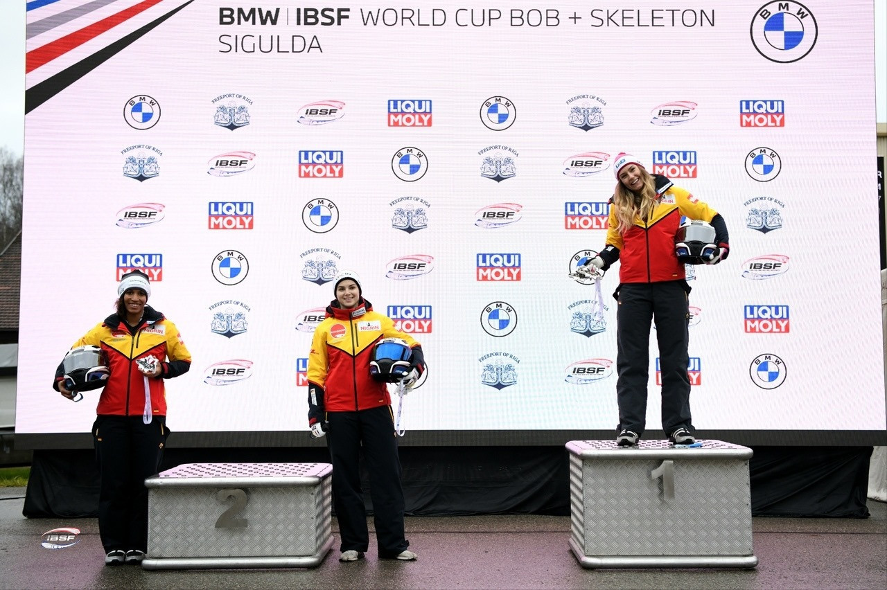 Germany win both bobsleigh golds on day two of IBSF World Cup in Sigulda