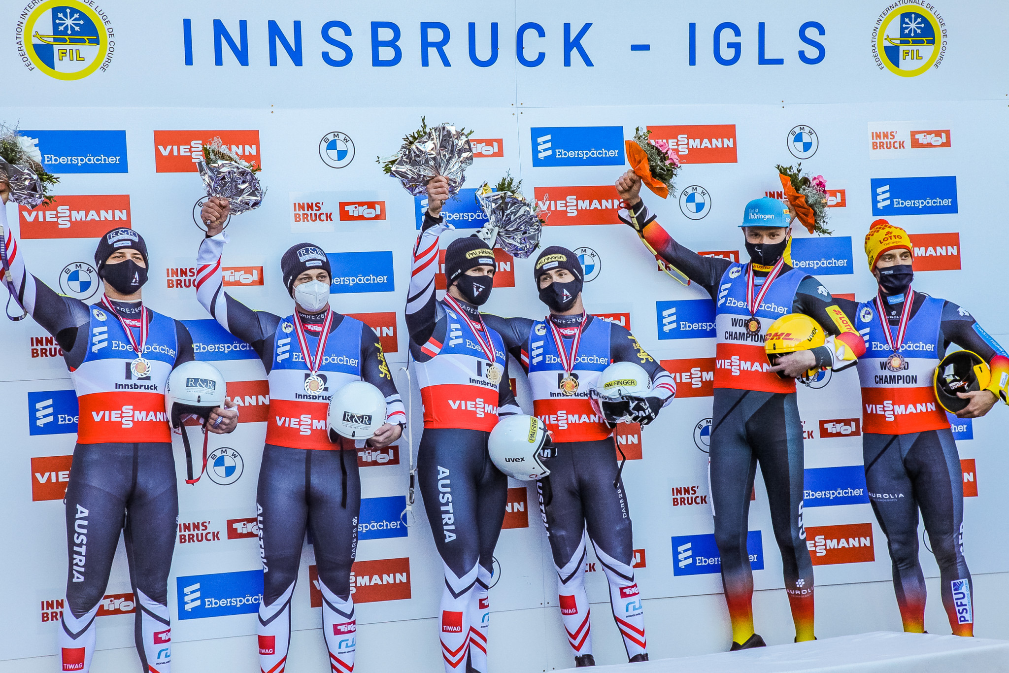 Austria secure one-two in men's doubles on opening day of Luge World Cup season