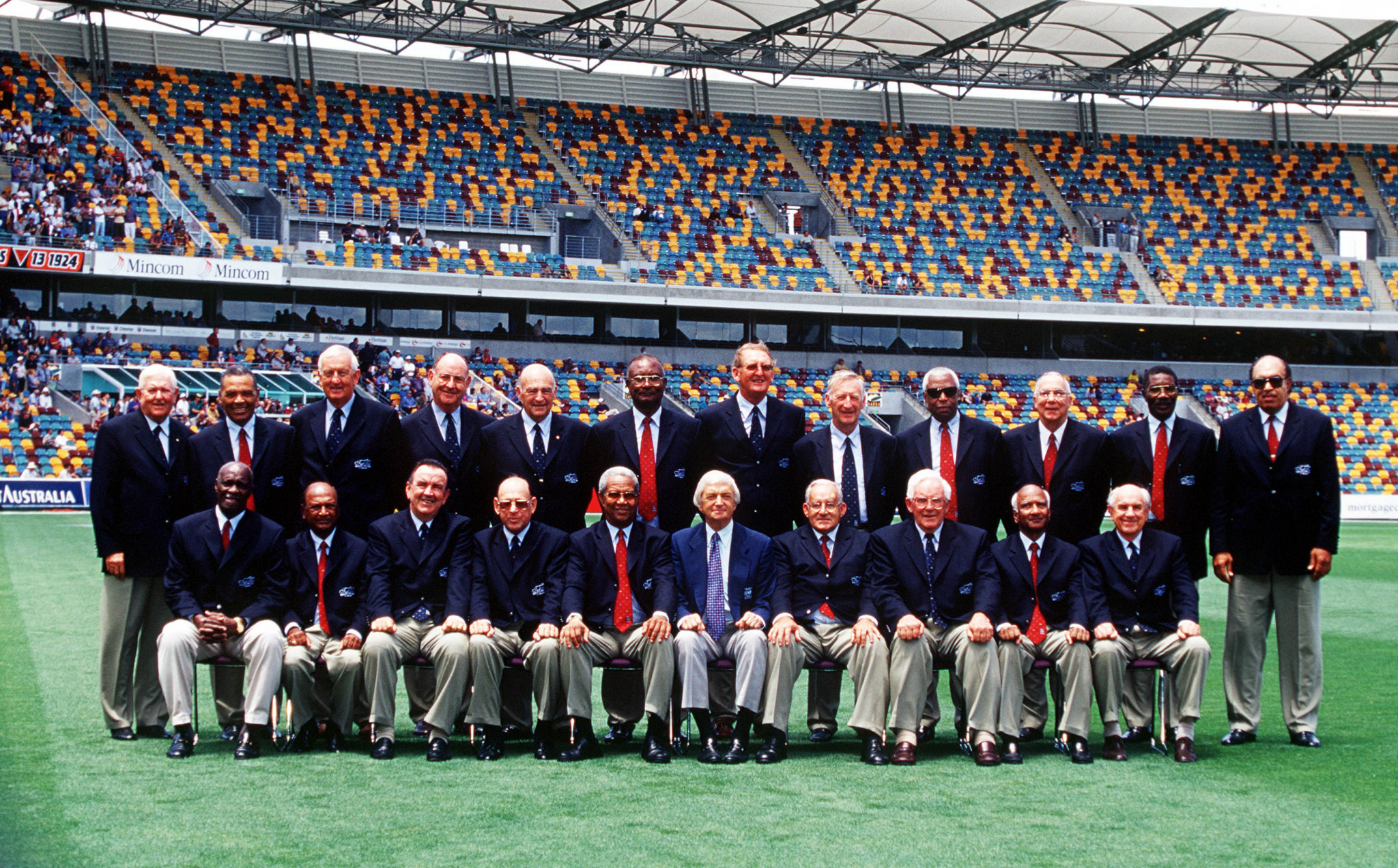 Many of those who played in the tied Test met 40 years later for a reunion ©Getty Images