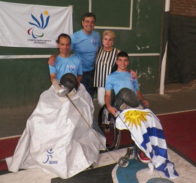 It is hoped the donation of the equipment will help the development of wheelchair fencing in Uruguay