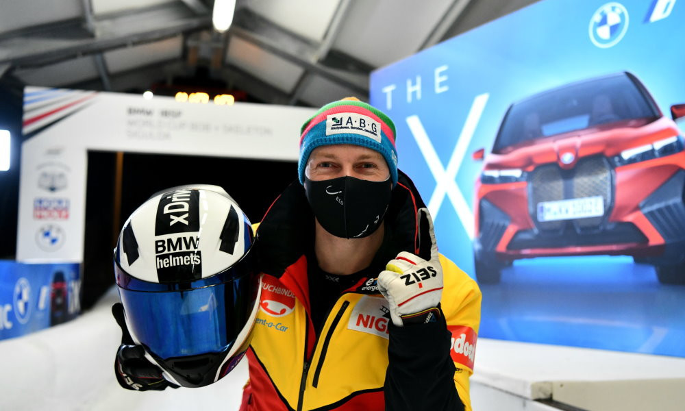 Friedrich sets four-man bobsleigh track record at IBSF World Cup race in St Moritz