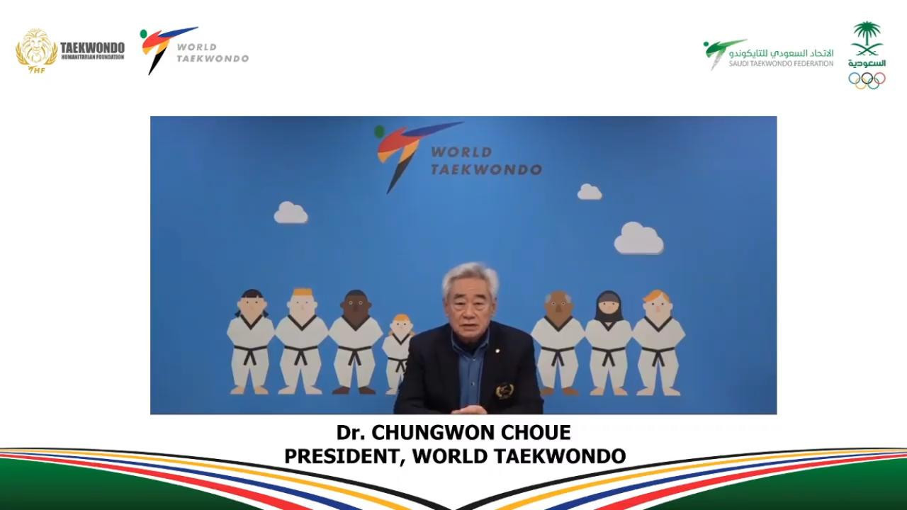 World Taekwondo President Chungwon Choue speaks during the opening day of the gender equity and female leadership forum ©SAOC