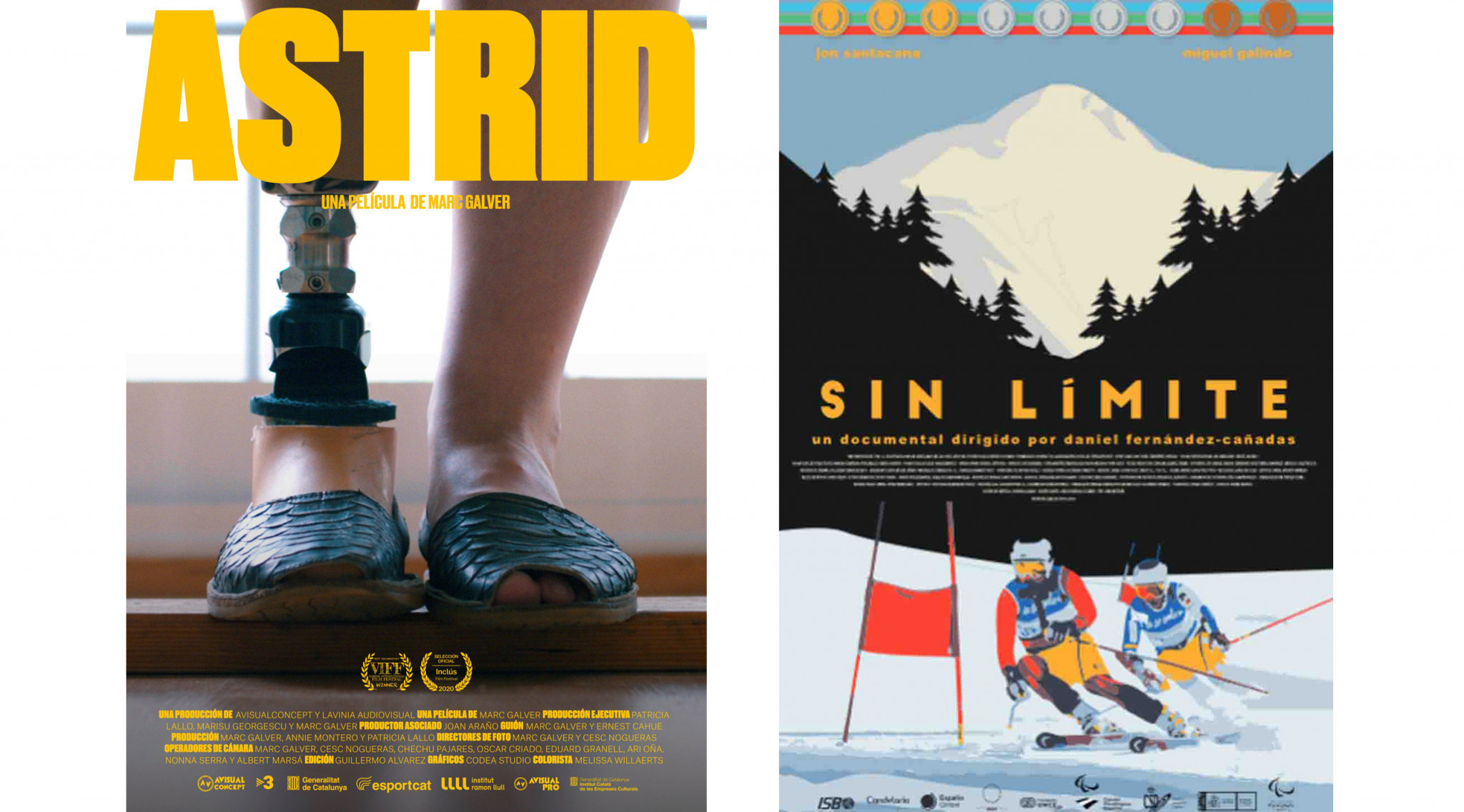 Astrid and Sin Limite documentaries have now been released ©Spanish Paralympic Committee