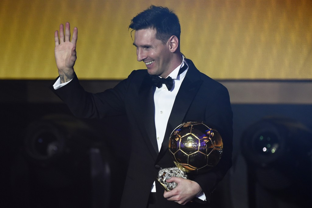 Barcelona star Lionel Messi has been named as the winner of the FIFA Ballon d'Or ©Getty Images