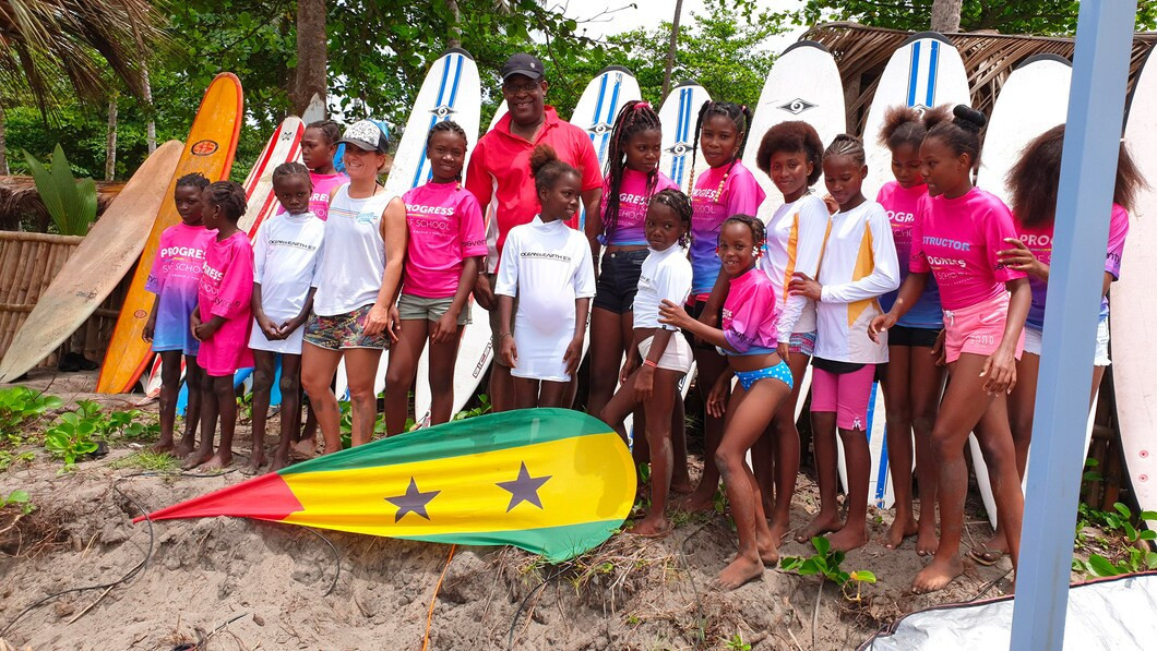 São Tomé and Príncipe National Olympic Committee fund surfing project for girls