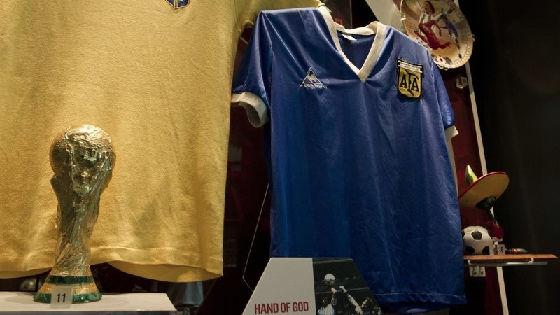 The shirt that Diego Maradona wore during the