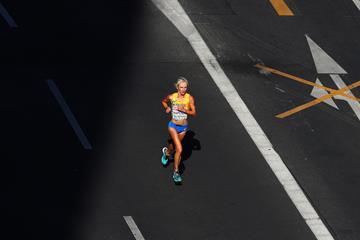 Sofia Marathon winner Viktoriia Khapilina has recieved a provisional doping suspension ©World Athletics