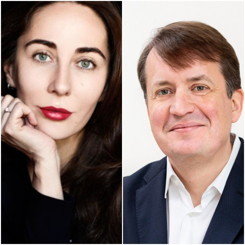 Former RUSADA director general Margarita Pakhnotskaya, left, and London-based Russian- speaking lawyer Vladas Stankevicius have been appointed as international experts to help RusAF regain its membership of World Athletics ©RUSADA and LinkedIn