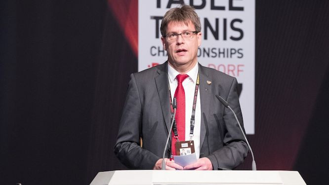 Thomas Weikert is due to stand for re-election as ITTF President next year ©ETTU