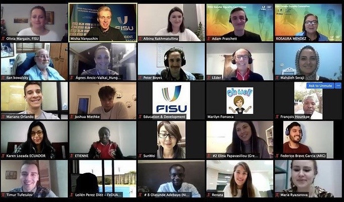 FISU Gender Equality Committee holds educational webinar with student ambassadors