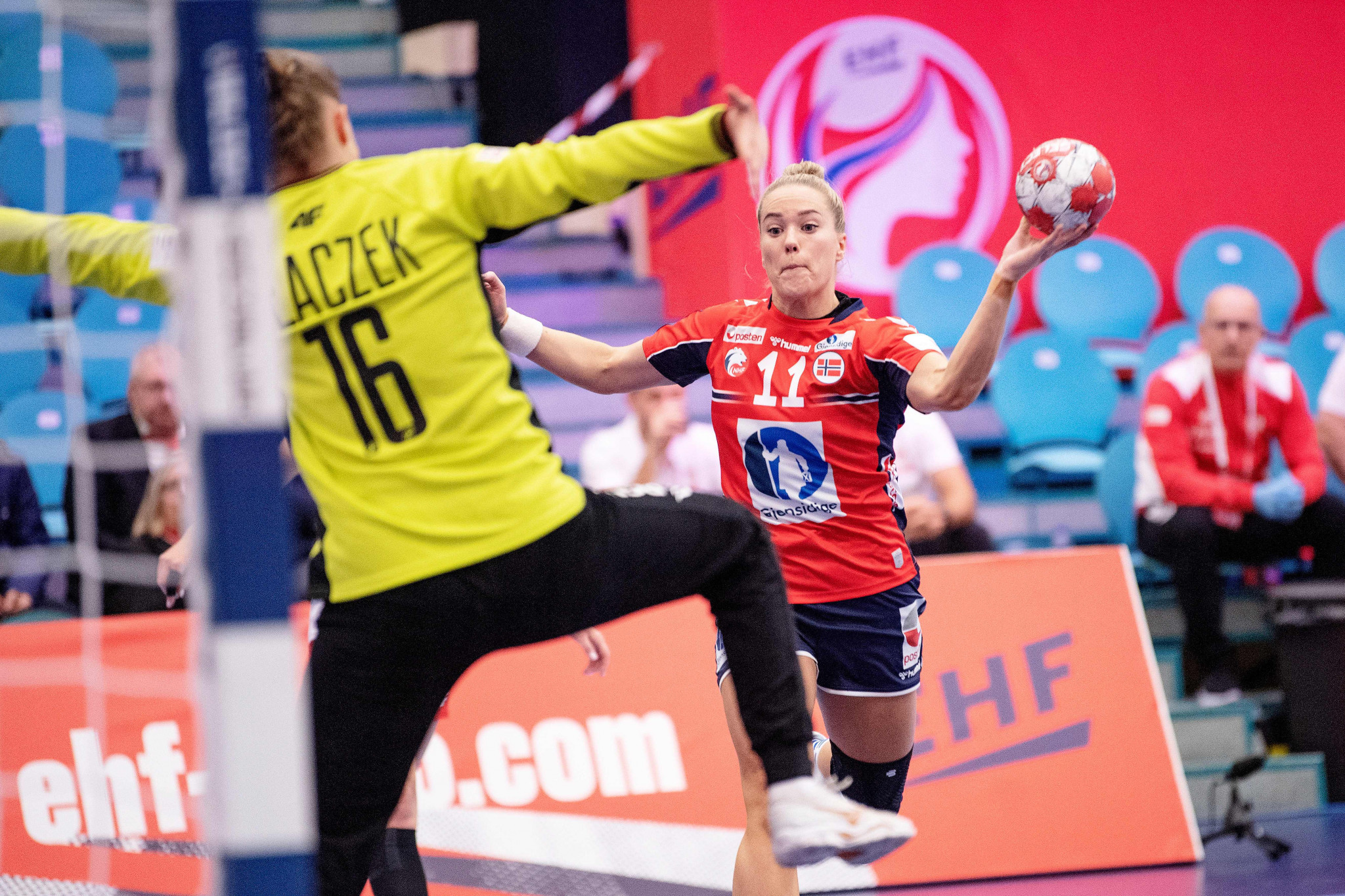 Norway, no longer co-hosting the European Women's Handball Championship, made a winning start ©Getty Images