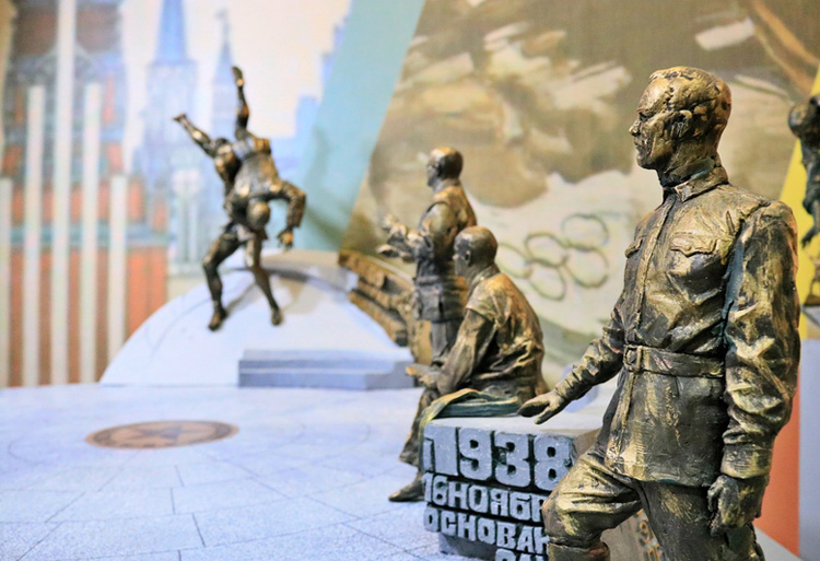 A monument is set to be unveiled to sambo's founders Vasily Oshchepkov, Victor Spiridonov and Anatol Kharlampiev  ©FIAS